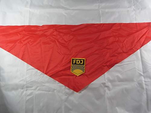 NVA FDJ Aufnäher Halstuch rot ,DDR Ostalgie -Artikel