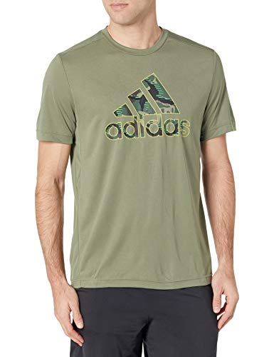 adidas mens Camo Graphic Tee 2 Legacy Green Large