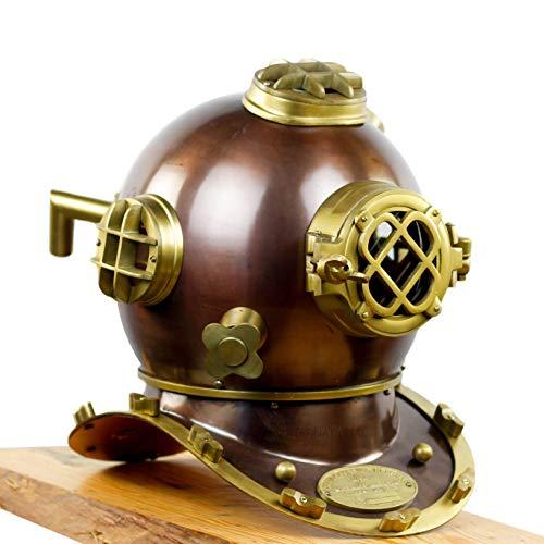 Nagina International US Navy Mark V Taucherhelm | Antik maritim nautisch dekorativ und dennoch funktional Vintage Messing gefertigt Premium Taucherhelm | Exklusive Sammlerfiguren