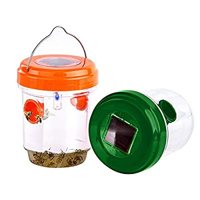 Amazon - 45% Off on Wasp Traps Outdoor Hanging – Solar Powered Wasp Hornet
