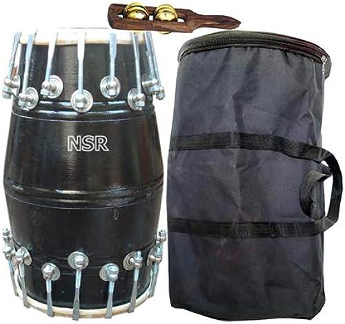 Amro Retailers Handmade Wood Professional New Design DHOLAK Indian Musical Instrument 04