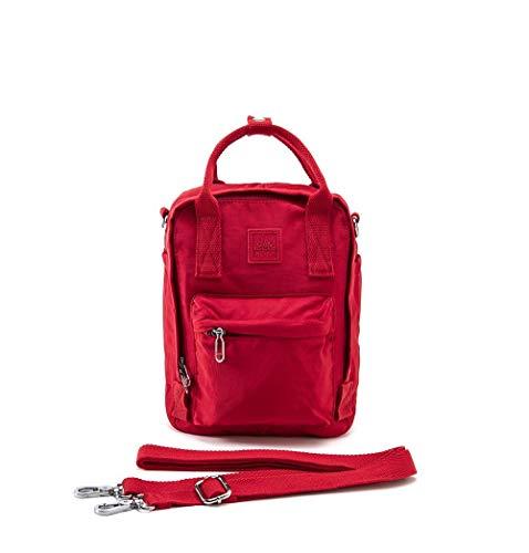 SNAP Urban Tres en uno: mochila, bolso de mano, bolso bandolera rojo