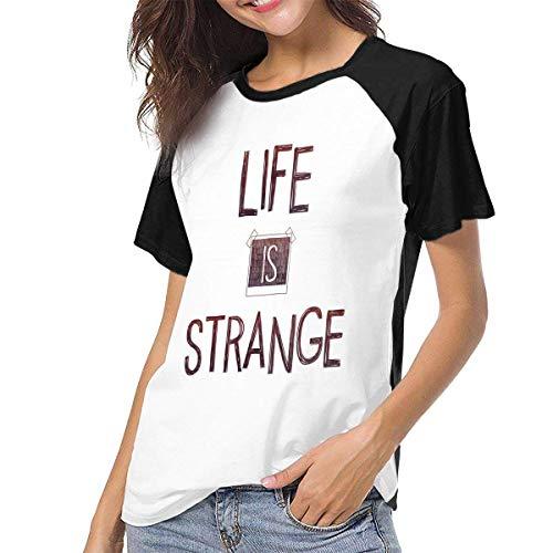 fenglinghua Frauen Kurzarm T-Shirt Women's T Shirts Life is Strange Raglan Shirt Short Sleeve Baseball Tee Unique Design top