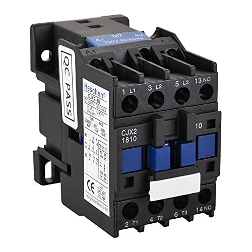 Heschen Contactor AC CJX2-1810 220V 50/60Hz Bobina 3P 3 polos normalmente abierto Ie 18A Ue 380V