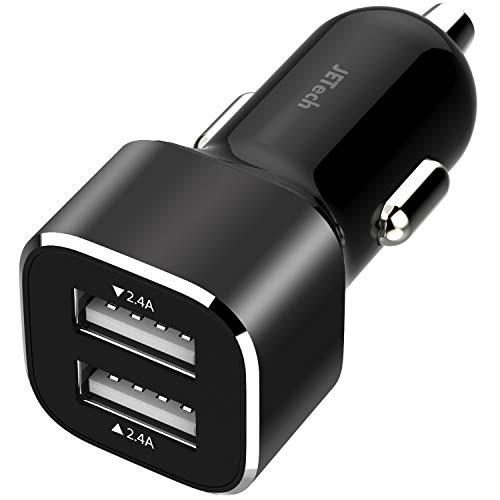 JETech 4,8 A 24 W USB billaddare snabb cigarettladdare med dubbla portar för smartphones surfplattor och mer