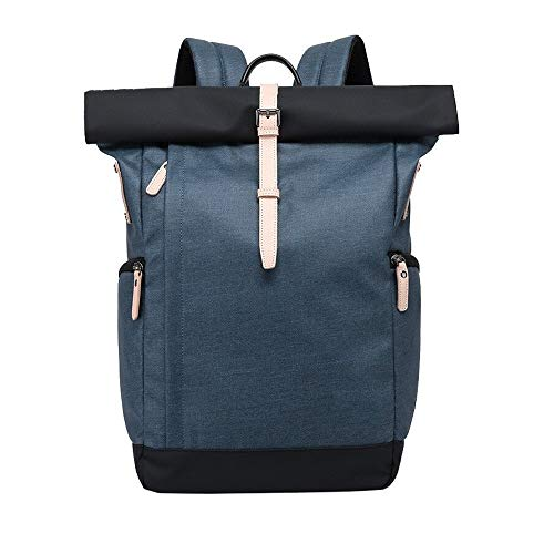 Cooralledtooere Rucksack Anti-Theft Travel Laptop Bag Roll Top School Bag Water Resistant Lightweight Casual Daypack For Men Women Fit Up To 14 Inch Laptop, 3D Design EVA Business Travel