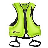 Chalecos Salvavidas Adulto AONYIYI Chaleco de Portátiles Inflables para Natación Kayak Canotaje Deportes Acuáticos