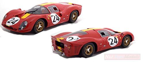CMR Modelo A Escala Compatible con Ferrari 330 P4 N.24 3rd LM 1967 W.MAIRESSE-J.BLATON 1:12 Classic Model REPLICARS...