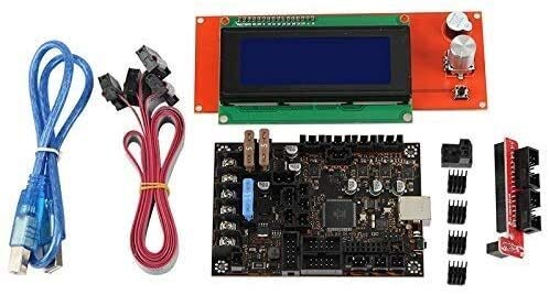 FORETTY DIANLU43 3D Printer Motherboard Kit for Prusa MK3/3S Einsy Rambo 1.1B with TMC2130 SPI+2004Lcd Computer Stable Performance