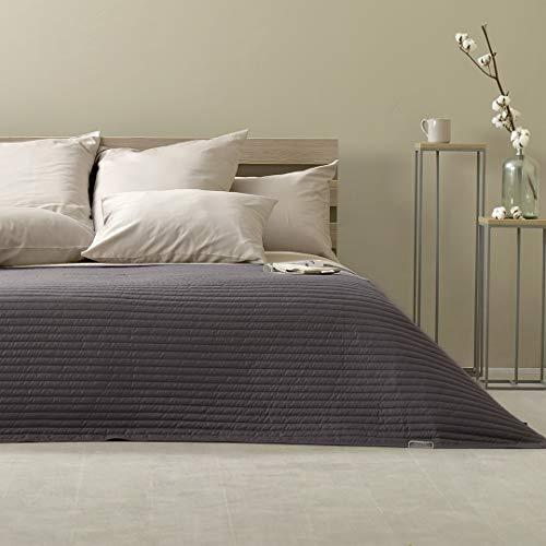 Sei Design Couvre-lit de Design Trend Living – Couvre-lit réversible 220x240 cm - Couleur en Vogue, matelassée de Forme Moderne et avec Une Application brodée de Haute qualité.