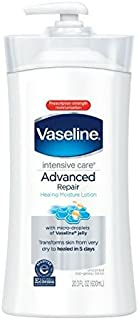 Vaseline Intensive Rescue Repairing Moisture Lotion, Fragrance Free, 20.3 Ounce Pump (Pack Of 3)