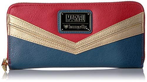 Loungefly Women's Captain Marvel Zip Around Wallet, Multi, One Size