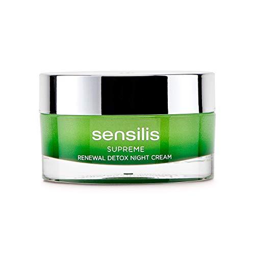 Sensilis Supreme - Crema de Noche Detoxificante y Regeneradora con Ácido Hialurónico,...