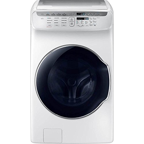 Samsung WV55M9600AW 5.5 Cu. Ft. White FlexWash Steam Washer WV55M9600AW/A5