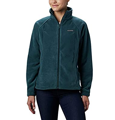 Columbia Women's Plus Size Benton Springs Full Zip Jacket, Soft Fleece with Classic Fit, Dark seas, 2X