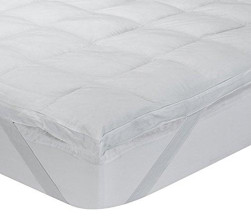 Classic Blanc - Surmatelas en fibre hypoallergénique Aloe Vera, confort médium, épaisseur 6,5cm. 140x190 cm-Lit 140