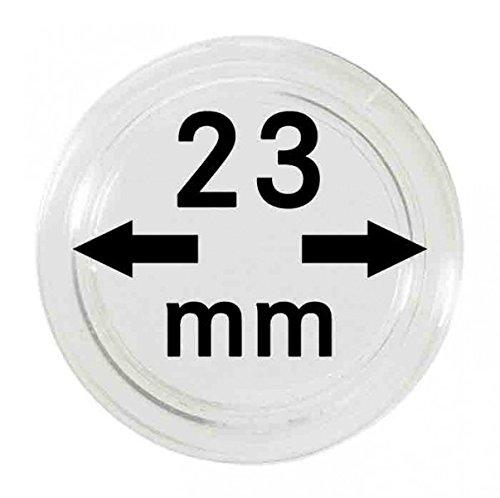 LINDNER Das Original Münzkapseln Innen-Ø 23 mm, 10er-Packung