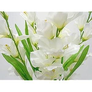 """Silk Flower Arrangements for Gladiolus Bush Artificial Silk Flowers 26"""" Bouquet 5-5971 Floral Décor Home & Garden - Color is Cream"""