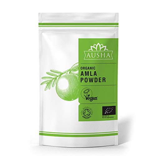 Organic Amla Powder 100g AUSHA (High in Vitamin C,Immunity,Anti Ageing,Detox,Hair Growth,Conditioner,Face Mask)