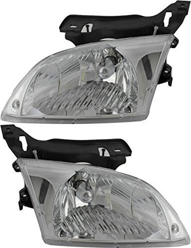 JP Auto Headlight Compatible With Chevrolet Cavalier 2000 2001 2002 Driver Left And Passenger Right Side Pair Set Headlamp