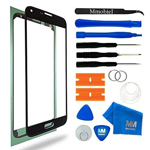 MMOBIEL Front Glas Reparatur Set kompatibel mit Samsung Galaxy S5 Mini G800 Series (Schwarz) Display mit Werkzeug-Set