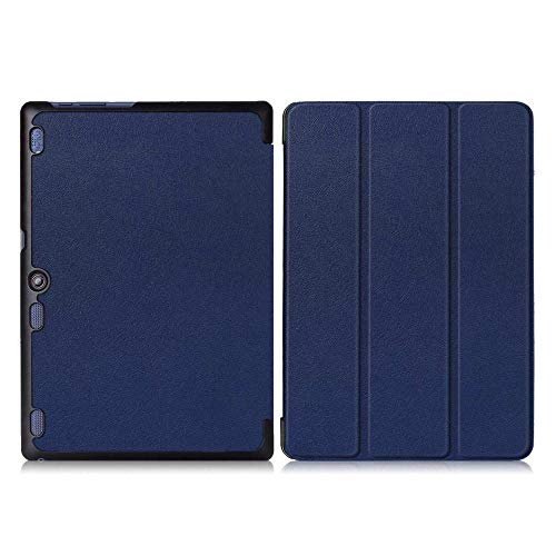 Ultra Slim Stand Case Cover Voor Lenovo Tab 10 Tb-X103F Tab 2 A10-70 Tab 2 A10-30 Tab3 10 Plus Tab3 10 Business Tablet Case-TAB2 A10 KST Azul Oscuro