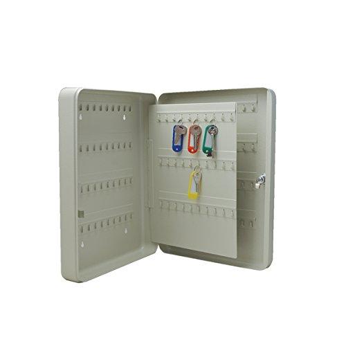Q-Connect 937604 Armoire Clé 140 Clés Acier Résistant Épaisseur 0.8 mm Plastique Assorties