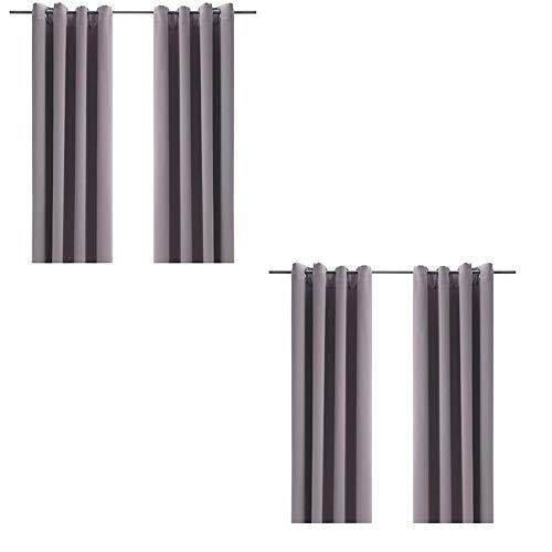 IKEA BOLLOLVON Blackout Curtains, 2 Pair (Pack of 2, 57x98, Gray)