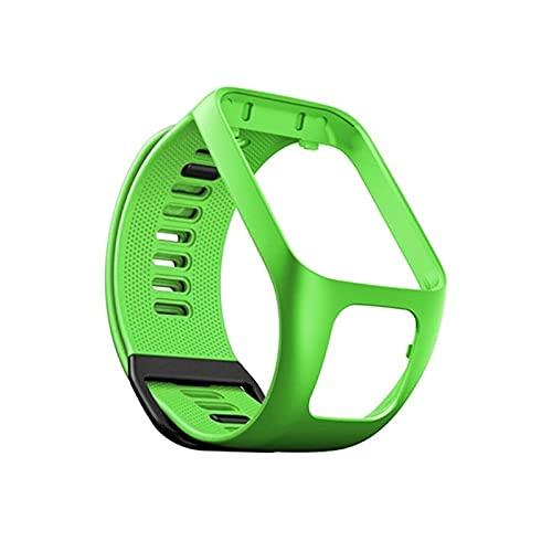 Silicona Reemplazo De Pulsera Reloj Correa De Banda para Tomtom Runner 2 3 Spark 3 Sport Watch Tom 2 3 Serie Soft Smart Band (Color : Green)