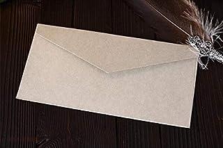 CHUJIAN 50pcs B3(220mm X 110mm) Inviting Envelopes Thick Paper Multifunction Gift Card Invitation Envelope Wedding Paper (...