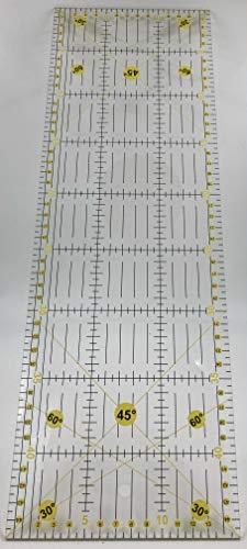 Regla de patchwork 15 x 45 cm, de acrílico. Transparente, con dimensiones en centímetros y ángulos. Regla de costura para cortes precisos
