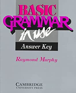Basic Grammar in Use Answer key: Reference and Practice for Students of English