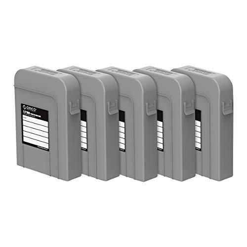 ORICO Custodia Rigido Hard Disk HDD per Scatola di Protezione del Disco Rigido Antiurto Esterno - 5 Grigio