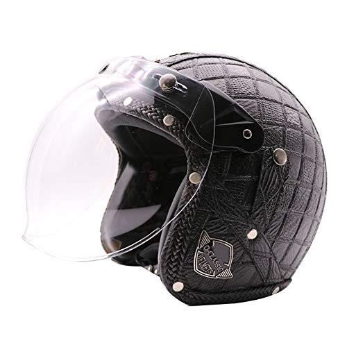 Stella Fella Cascos de los hombres de verano hecho a mano retro casco de la motocicleta casco de cara completa masculino y femenino Harley casco de motocicleta
