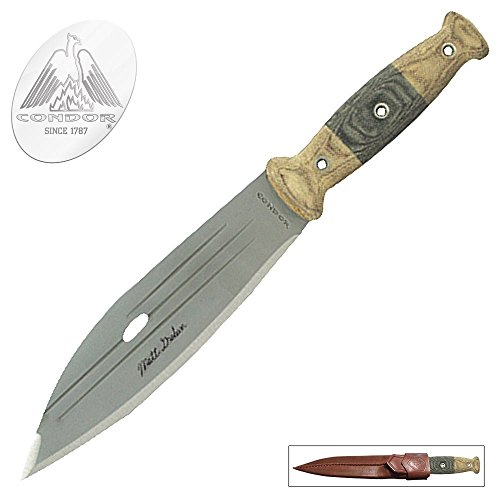 Condor Tool & Knife, Primitive Bush Knife, 8in Blade, Micarta Handle with Sheath