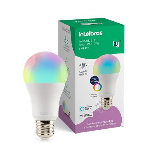 Smart Lâmpada Inteligente Intelbras EWS 410 com 16 milhões de cores, 10W, Casa Inteligente Wi-Fi, compatível com Alexa