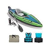 SHENYF Barco de Pesca portátil del Deporte del Agua del k-a-y-a-k Inflable para 1 Persona CLORURO DE POLIVINILO Barco Kayaks 1 Bomba de Asiento Paddle 68305