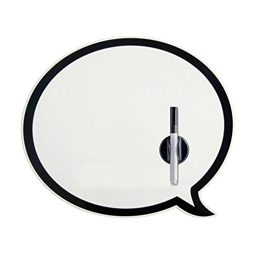 Balvi 23869Pizarra magnética en Forma de Bocadillo con rotulador borrable magnético, Color Blanco y Negro