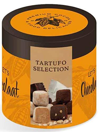 Lets Chocolaat Bombón Tartufo Variado Chocolate Blanco y Chocolate negro, 120g (12 unidades)…