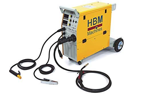 HBM Profi MIG MAG Schutzgas Schweißgerät - Schutzgasschweißgerät mit Digitalanzeige und IGBT-Technologie - by Tools.de