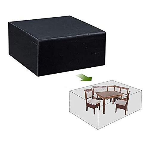 YYQIANG Housse de protection pour meubles de jardin carrés imperméable anti-UV et anti-UV, Tissu Oxford, Noir , 200*160*70CM