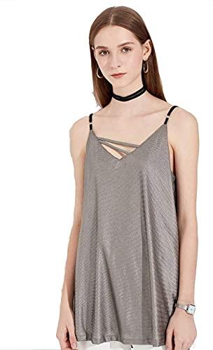 MOZHANG Traje de radiación Camisetas sin mangas de maternidad Ropa anti-radiación de las mujeres para trabajar Embarazo Desgaste interior Sling Traje de embarazo, antiestático, ajustable (Color: S1, T