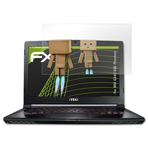 atFolix Bildschirmfolie kompatibel mit MSI GS40 6QE Phantom Spiegelfolie, Spiegeleffekt FX Schutzfolie