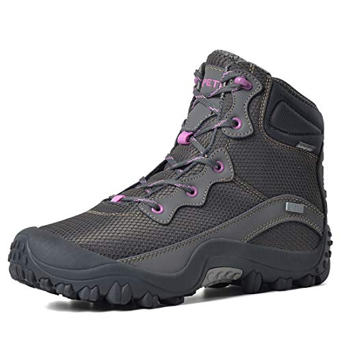 XPETI Women's Dimo Mid Waterproof Hiking Outdoor Boot Gray 8.5