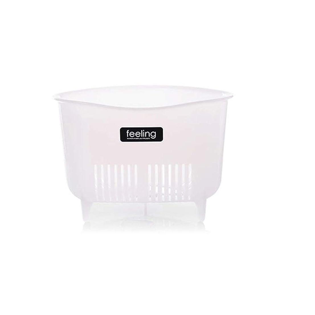 IUYWL 三角形のシンクプラスチックドレンラック、キッチンラック、フルーツバスケットを洗う キッチンドレンラック (Color : White)