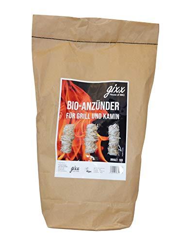 gixx Bio-Anzünder 1 kg für Grill und Kamin