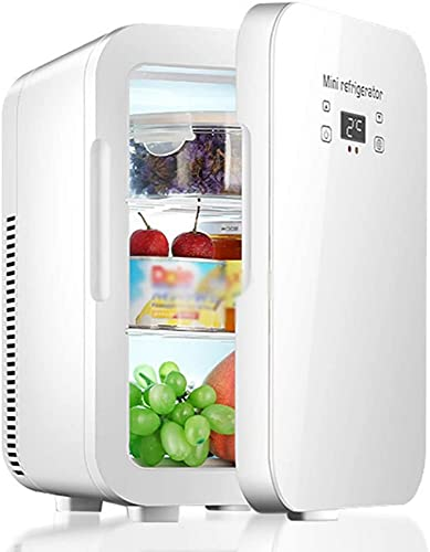 FCXBQ 12-Liter-Minikühlschränke, 12-V / 220-V-Kühl- und Gefrierschränke für Autos und Privathaushalte mit unsichtbaren Griffen, Dual-Core-Kühlung, Smart Touch und Autokühlschränken
