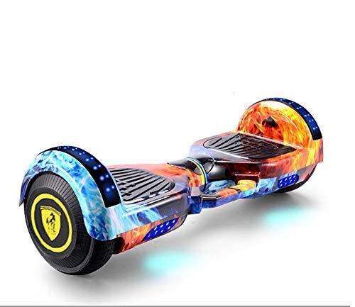 Newut Scooter eléctrico Inteligente de Equilibrio automático con Altavoz inalámbrico Incorporado Polvo de Camuflaje Inteligente Bluetooth, Hoverboard para niños de 6 a 12 años,Ice Flame,10 Inches