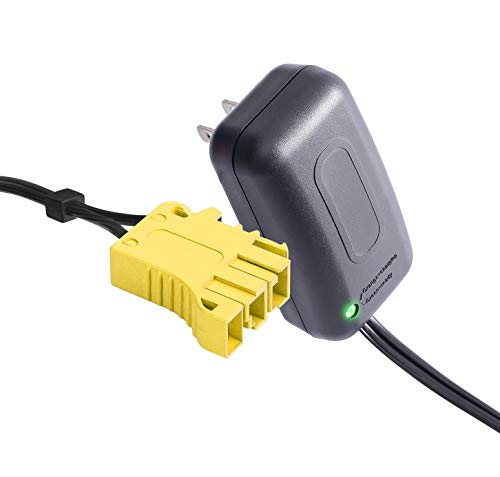 24 Volt Battery Charger for Peg Perego, 24V Charger Works with Peg-Perego John Deere Gator XUV 6x4 Polaris Sportsman 850 Polaris Ranger RZR Powered Ride On Car Replacement Power