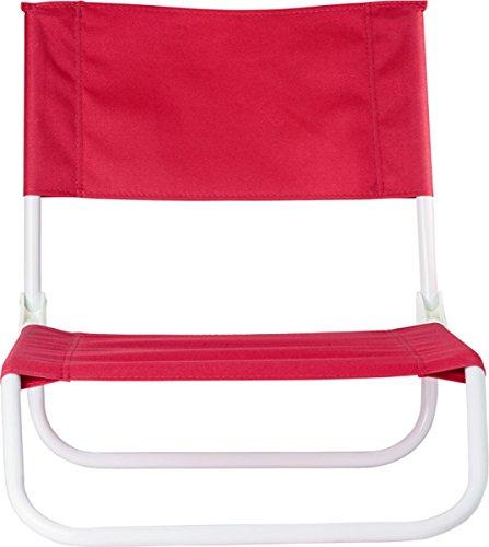 Preiswert&Gut Strandstuhl Beach Klappstuhl Strand 48x44,5x52 Strand Stuhl 1.2Kg faltbar auf ca 64 x 45 x 16 cm Camping Stuhl Farbwahl (Rot)